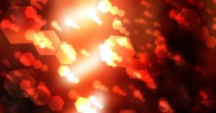 Hexagons bokeh υπόβαθρο Στοκ εικόνα με δικαίωμα ελεύθερης χρήσης