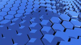 Hexagons corporate background moving stock footage