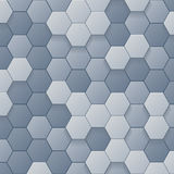 Hexagons 3d Abstract Background Vector Illustration. Hexagons Abstract Background design modern art Vector Illustration Royalty Free Stock Image