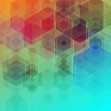 Hexagons 3d cubes abstract background. Hexagons 3d cubes. Abstract background Stock Images