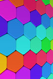 Hexagons. 3d rendering of some colored hexagons Royalty Free Stock Image