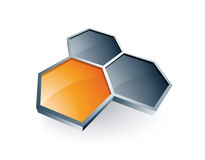 Hexagons Design Stock Photography