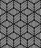 Hexagons and diamonds op art pattern. Stock Photography