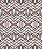 Hexagons and diamonds optical illusion pattern. Royalty Free Stock Image