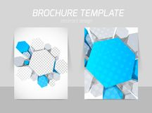 Hexagons flyer template Royalty Free Stock Photography