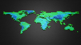 Hexagons Form A Relief Map Of The Earth stock footage