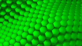 Hexagons formed a wave. Abstract background, 2 in 1, loop 301-600 frames, created in 4K, 3d animation stock video footage