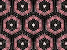 Hexagons geometric pattern Stock Photography
