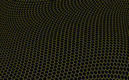 Hexagons graphene structure Royalty Free Stock Image