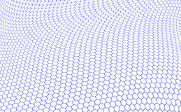Hexagons graphene structure Stock Image