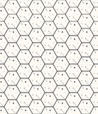Hexagons gray simple seamless pattern Stock Image