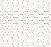 Hexagons gray vector simple seamless pattern Royalty Free Stock Photo