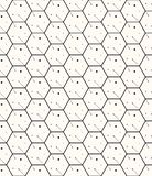 Hexagons gray vector simple seamless pattern Stock Photo