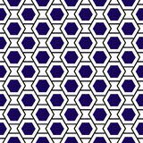 Hexagons grid geometric seamless background Royalty Free Stock Images