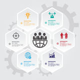 Hexagons group modern business template. Can use for banner prom Stock Photos