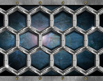 Hexagons Grunge Background Stock Photo