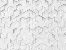 Hexagons made of rhombuses. 3d background Vector Illustration
