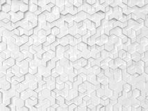 Hexagons made of rhombuses. 3d background Stock Illustration