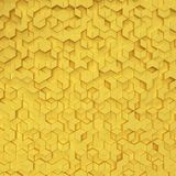 Hexagons made of rhombuses. 3d background Royalty Free Illustration