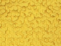 Hexagons made of rhombuses. 3d background stock photos