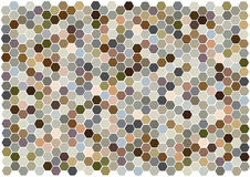 Hexagons mosaic background Royalty Free Stock Photography