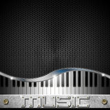 Hexagons Music Piano Background Stock Photo