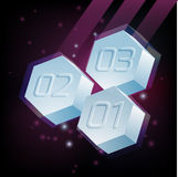 Hexagons with numbers Royalty Free Stock Images