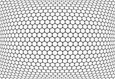 Hexagons pattern. Abstract textured latticed background. Stock Images