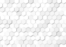 Seamless Grey Hexagons Texture for Abstract Background royalty free illustration