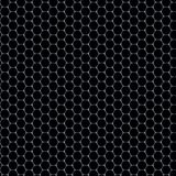 Hexagons pattern - glass material on black background Royalty Free Stock Image