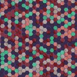 Hexagons pattern royalty free stock photography