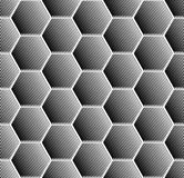 Hexagons pattern. Seamless geometric texture. Stock Photography