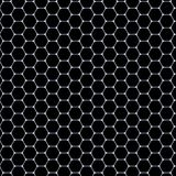 Hexagons pattern -  white mat on black background Royalty Free Stock Photography