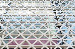 Hexagons steel facade pattern Royalty Free Stock Photos