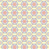 Hexagons texture. Seamless geometric pattern. Vector art. Royalty Free Stock Images
