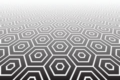 Hexagons textured  surface. Abstract geometric background. Royalty Free Stock Images