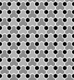 Hexagons tiled pattern. Seamless geometric texture. Vector art Royalty Free Stock Images