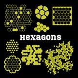 Hexagons - vector set Stock Image