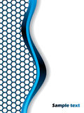 Hexagons and wave. With blue and white colors Stock Photo
