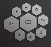 Hexagonteamsystem Lizenzfreie Abbildung