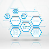Hexagonwebdesign Lizenzfreies Stockfoto