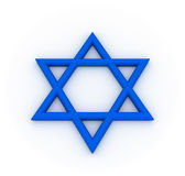 Hexagram bleu illustration libre de droits