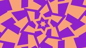 Hexagram-David-Sterndrehbeschleunigungserhöhung Flackern des Goldes und des jüdischen Symbols der blauen Dreieckrotation Nahtlose lizenzfreie abbildung