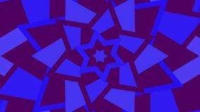 Hexagram-David-Sterndrehbeschleunigungserhöhung Flackern des jüdischen Symbols der purpurroten und blauen Dreieckrotation Nahtlos vektor abbildung