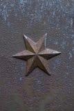 Hexagram del molde del hierro Elemento arquitectónico decorativo Imagen de archivo libre de regalías