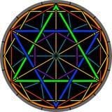 Hexagram di magia di colore Fotografie Stock