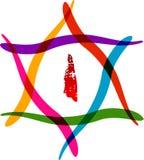 Hexagram logo Stock Image