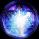 Hexagram mágico Foto de archivo libre de regalías