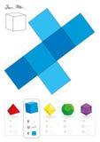 Hexahedron modelo de papel Fotografia de Stock