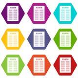 Hexahedron réglé de couleur d'icône de déclaration d'indépendance Image libre de droits